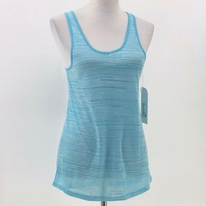 kyodan womens athletic tank top blue stripes sz XS
